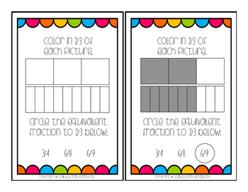 Equivalent Fractions Differentiated Task Cards