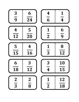 Equivalent Fraction Domino