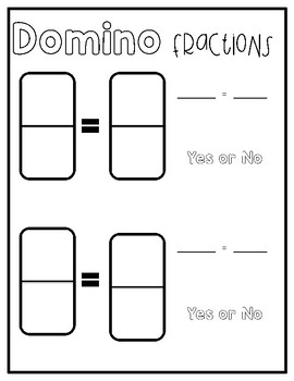 Equivalent Fraction Domino Worksheet Plus Anchor Chart