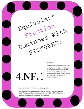 Equivalent Fraction Dominoes! With Pictures!