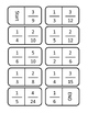 Equivalent Fraction Dominoes Common Core