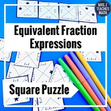 Equivalent Fraction Equations Square Puzzle  4.NF.3b
