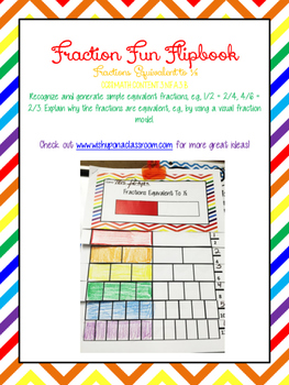Equivalent Fraction Flip Book (Fractions Equal to 1/2)