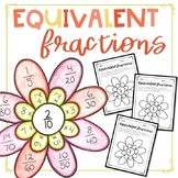 Equivalent Fraction Flowers Activity/Craft — Distance Learning
