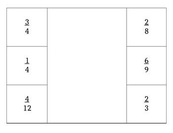 Equivalent Fraction Foldable *Editable*