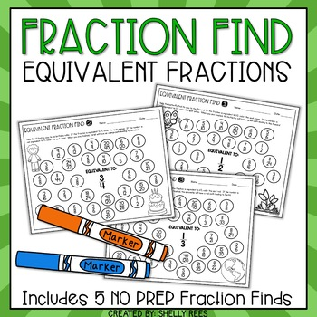 Equivalent Fractions Fortune - A Color the Path Activity Packet for Grades 3-5