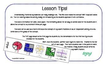 Equivalent Fraction Fun Practice Book!