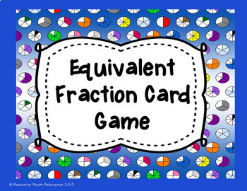 Equivalent Fraction Game By Resource Room Relevance Tpt