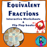 Equivalent Fractions Interactive Notebook and Worksheets
