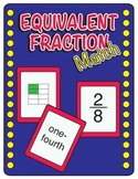 Equivalent Fraction Match - Common Core Aligned - Math Center