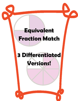 Equivalent Fraction Match (Differentiated!)
