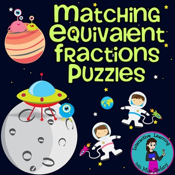 Equivalent Fractions Match Up 2 {Puzzles & Worksheets}