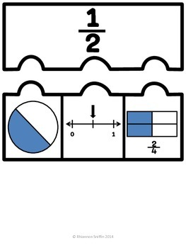 Equivalent Fraction Match Up Cards