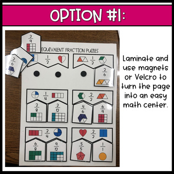 Equivalent Fraction Puzzle Matching Activity