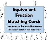Equivalent Fraction Matching Card Decks