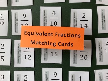 Equivalent Fraction Matching Card Decks