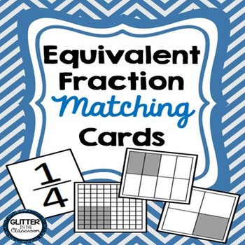 Equivalent Fraction Matching Cards-3rd-5th Grade