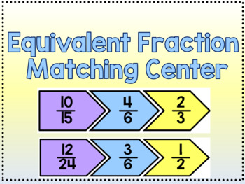 Equivalent Fraction Matching Center
