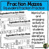 Equivalent Fraction Mazes (3rd-4th)