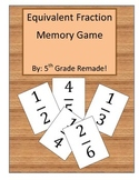 Equivalent Fraction Memory Game