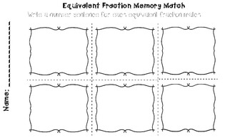 Equivalent Fraction Memory Match
