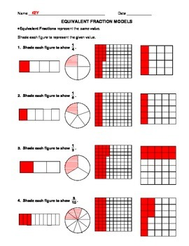 Equivalent Fraction Models