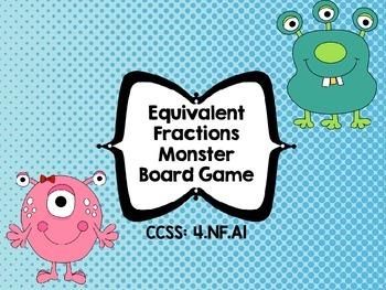 Equivalent Fraction Monster Board Game