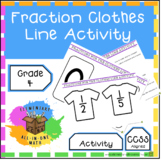 Equivalent Fraction Number Line - Clothes Line Fraction Activity (4.N.F.1)