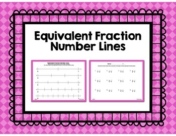 Equivalent Fraction Number Line Worksheet