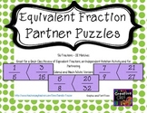 Equivalent Fraction Partner Puzzles