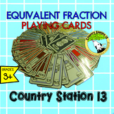 Equivalent Fraction Playing Cards, Order and Compare Fractions