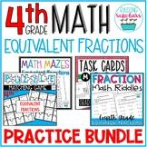 Equivalent Fraction Practice BUNDLE 4th Grade