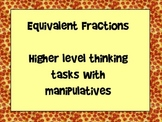 Equivalent Fraction Problem Solving with Manipulatives