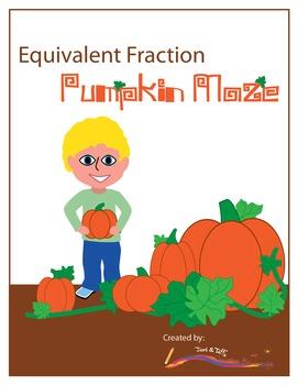 Fraction Game – Pumpkin Maze for Equivalent Fractions