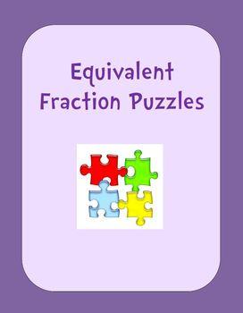 Equivalent Fraction Puzzles (2-piece sets)