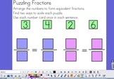 Equivalent Fraction Puzzles - Common Core Fractions!