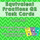 Equivalent Fraction QR Code Task Cards