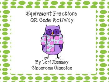 Fraction QR Codes Activity