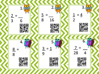 Fraction QR Codes Activity