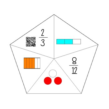 Equivalent Fractions QR Puzzles