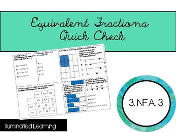 Equivalent Fractions Quick Check