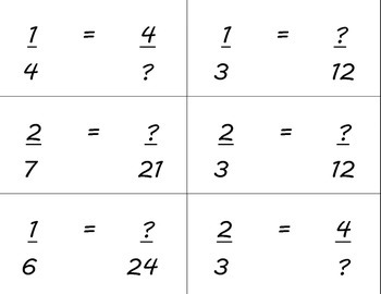 Equivalent Fraction Quiz Quiz Trade Cards Find Missing Numerator