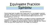 Equivalent Fraction Rainbow Craftivity