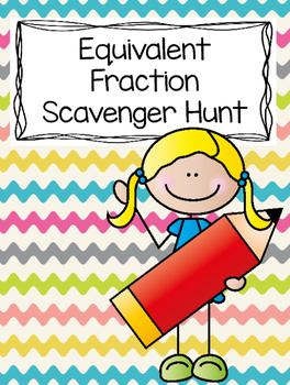 Equivalent Fraction Scavenger Hunt