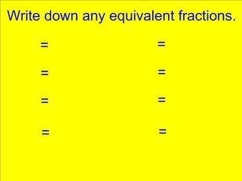 Equivalent Fraction Smartboard Activity