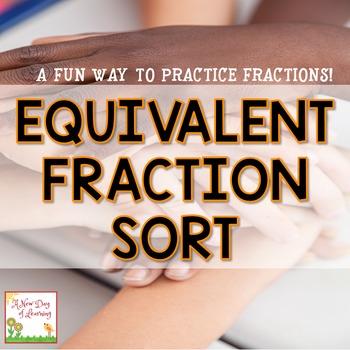 Equivalent Fraction Sort - Math Center