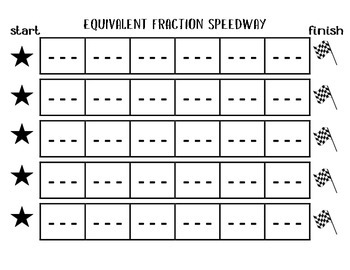 Equivalent Fraction Speedway
