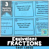 Equivalent Fractions on a Number Line Activities Task Cards