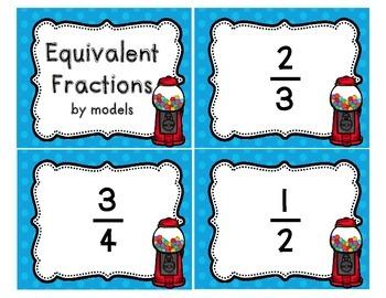 Equivalent Fraction Task Cards Bundle