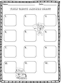 Equivalent Fraction Task Cards - St. Patrick's Day Freebie